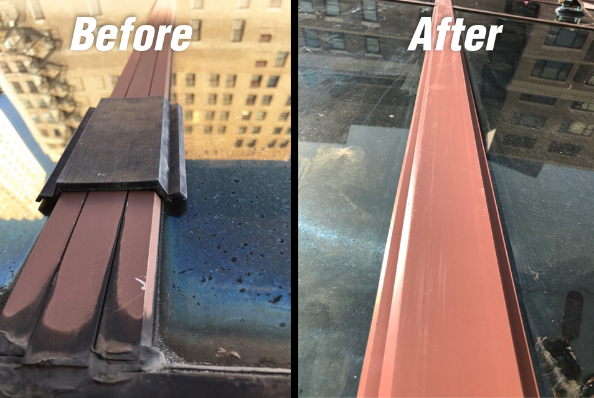Glazing Restoration with Custom Silicone