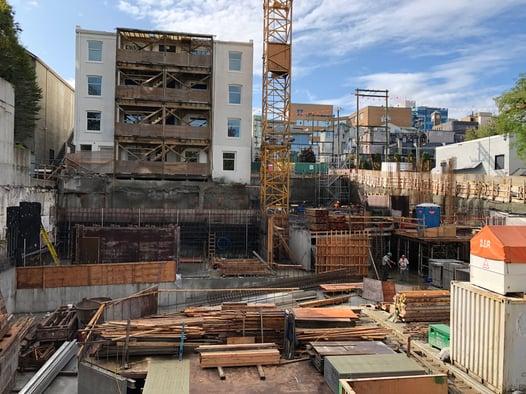 below-grade construction site