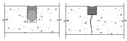 Diagram of backer rod usage