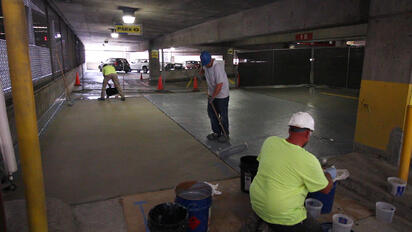 PUMA Coating in Indianapolis Parking Garage