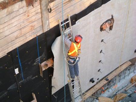 application of below-grade waterproofing