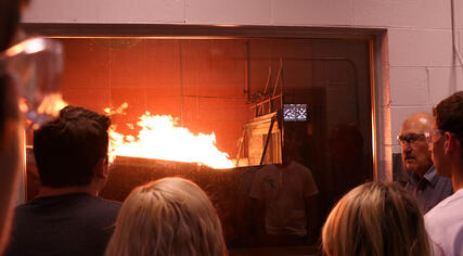 fire testing on building materials